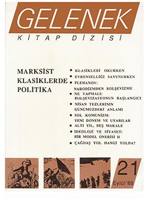 Plehanov Narodizmden Bolşevizme Gelenek